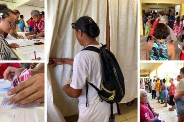 Le scrutin à Taputapuatea