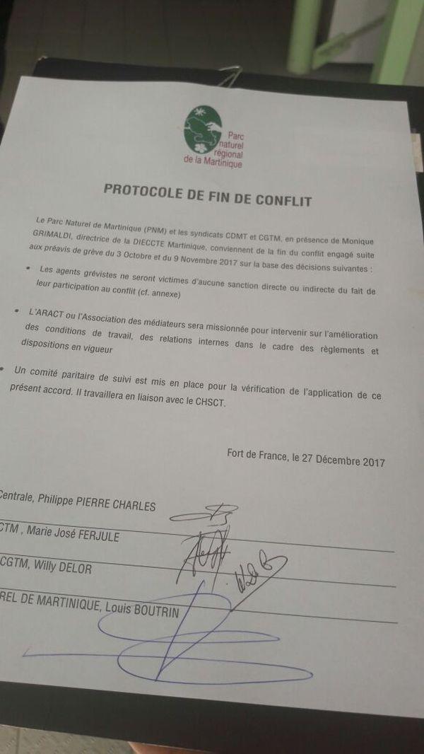 protocole fin de conflit
