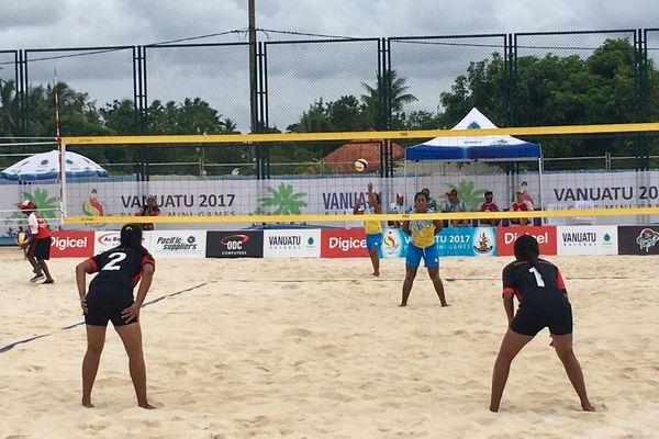 les beach volleyeuses reportent leur dernier match de poule contre Tuvalu