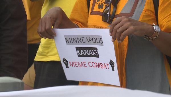 Rassemblement pour George Floyd à Nouméa, juin 2020