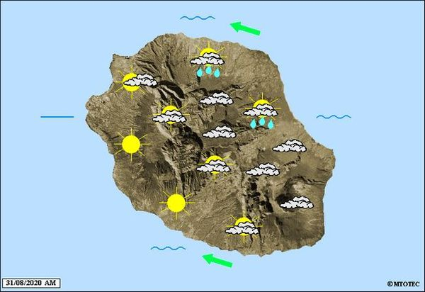 Carte météo 31 août 2020