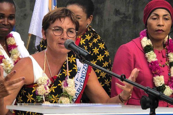 Annick Girardin à Mayotte en 2018