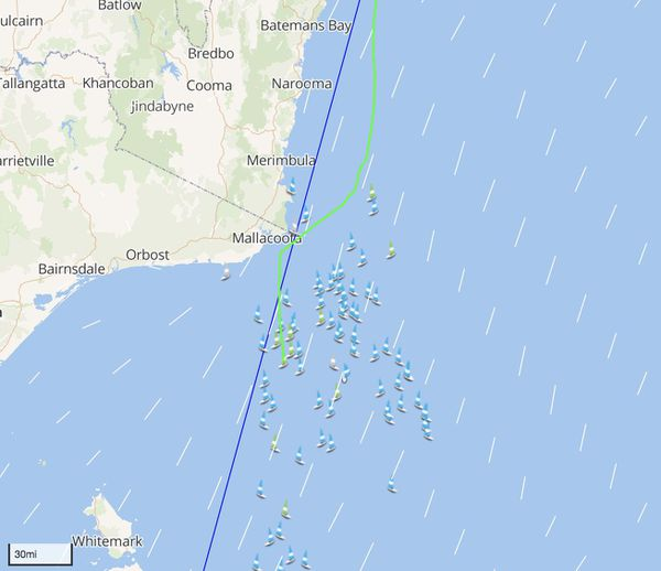 Capture tracker BNC Sydney Hobart