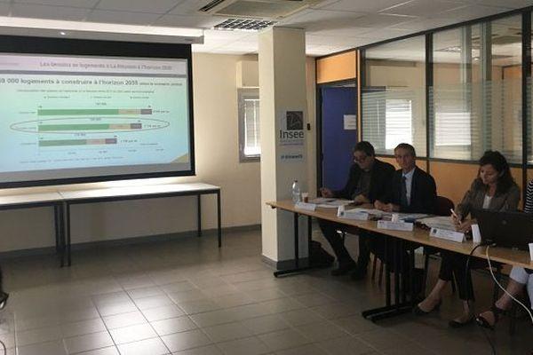 Conférence de presse de l'INSEE, jeudi 11 octobre, sur le logement à La Réunion.
