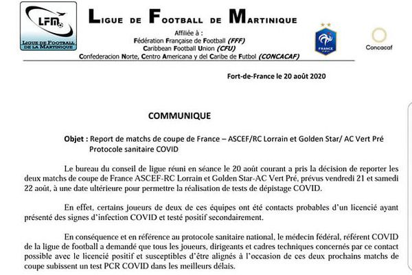 communiqué ligue football
