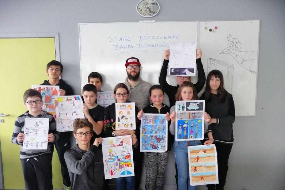 Un atelier de création de bande-dessinée pour de jeunes dessinateurs en herbe - Saint-Pierre et Miquelon la 1ère