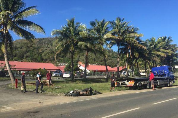 accident devant école les coccinelles au Mont-Dore 23 juillet 2021