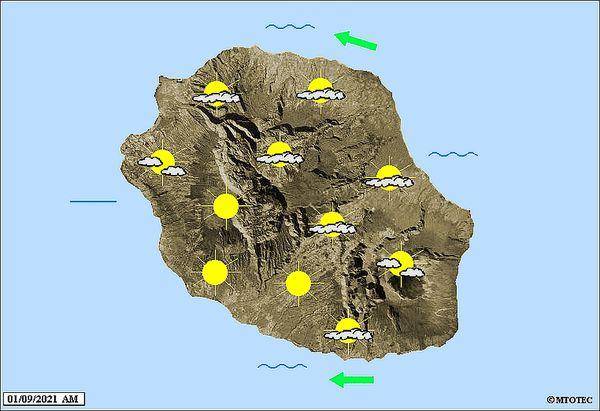 Carte météo 1 09 2021