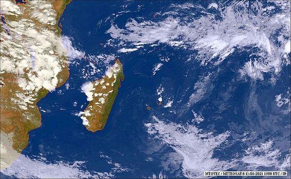 Image Satellite de l'océan Indien 12 janvier 2021