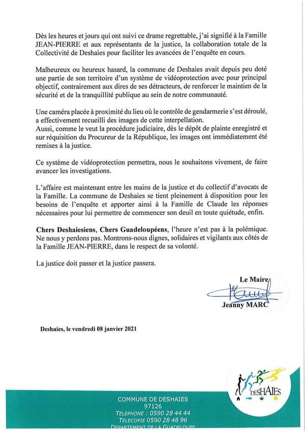 Communiqué Jeanny Marc - Décès Claude Jean-Pierre - page 2