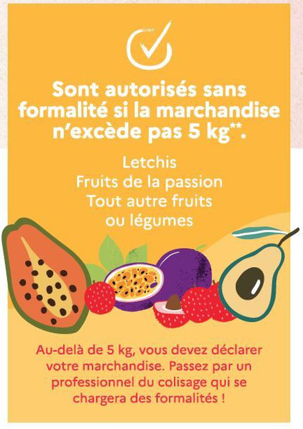 Végétaux et fruits autorisés dans les colis avec restriction