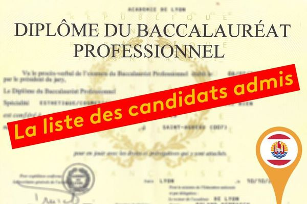 Bac pro : les candidats admis