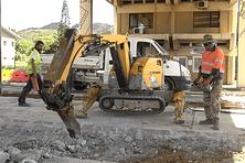Le robot utilisé pour la démolition des infrastructures.