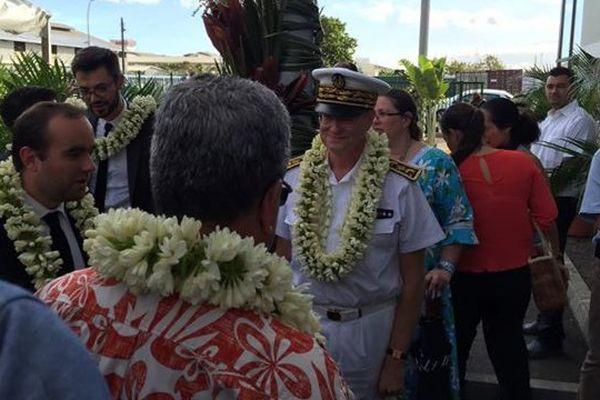 Sébastien Lecornu visite la station d'épuration de Papeava à Papeete