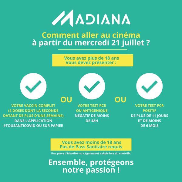 Pass sanitaire Madiana