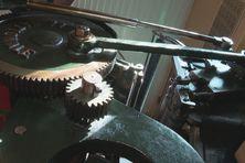 La Nationale, presse d'imprimerie datant des années 30 exposée au musée Héritage à Saint-Pierre