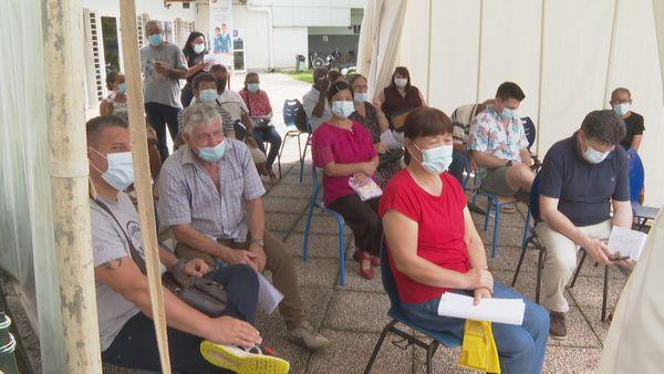 Afflux des patients à l'Encre pour la vaccination