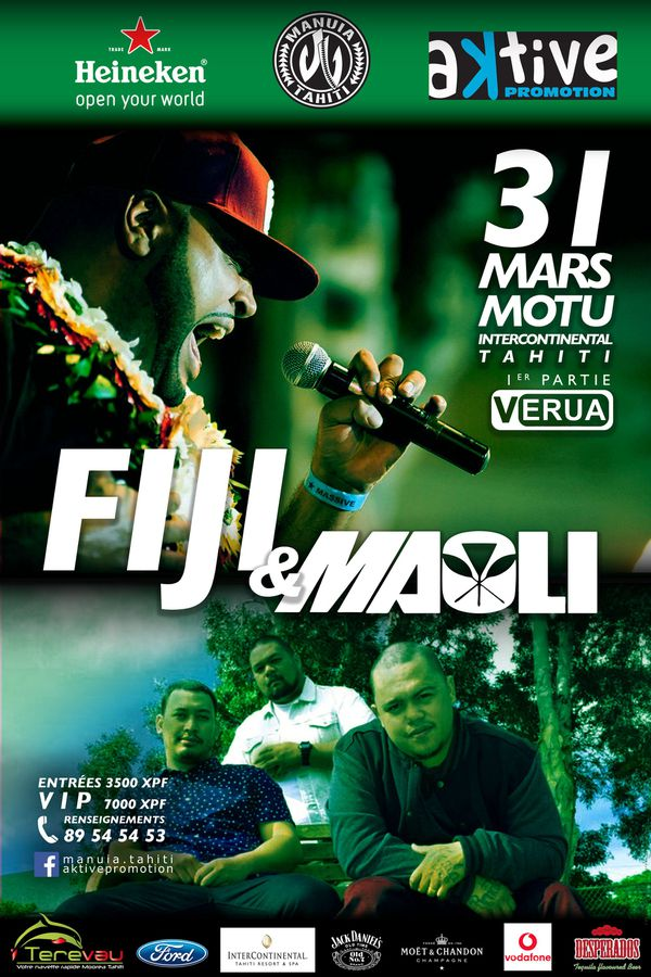 Fiji et Maoli en concert à Tahiti