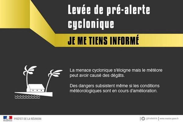 levée pre-alerte jaune cyclonique 120121