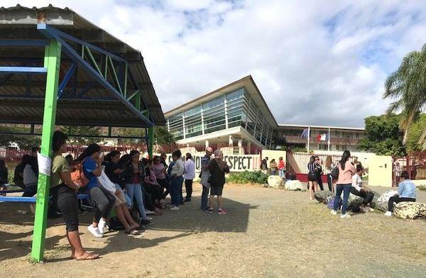 Mobilisation au lycée du Grand Nouméa, septembre 2019