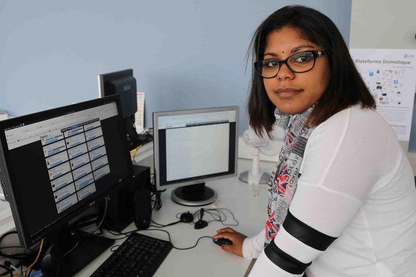 Floriane Fontaine, étudiante à l'ESIEA