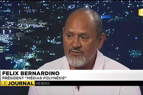 Invité du JT : Felix Bernardino, co gérant de Media Polynesie