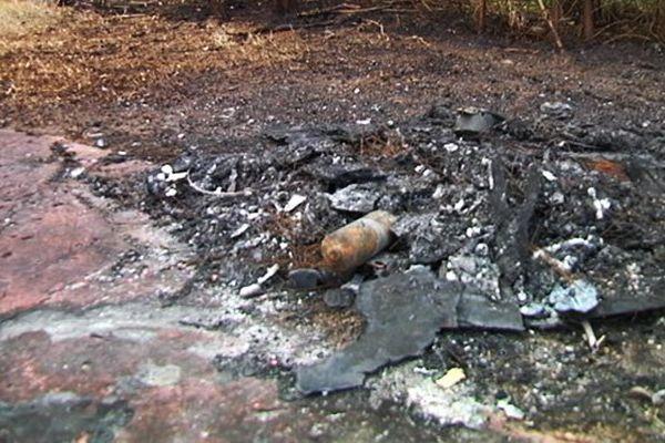 Femme brûlée dans sa voiture