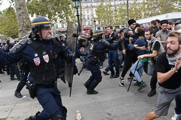 police manifestation loi travail