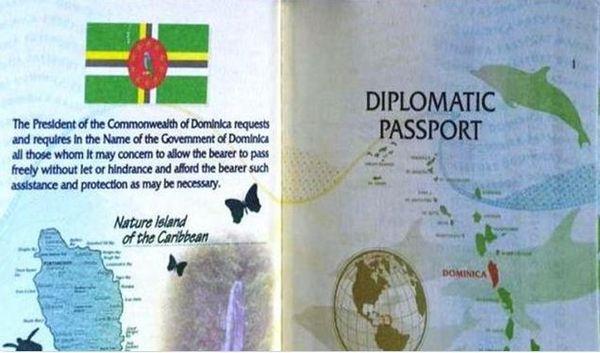 Dominique passeport diplomatique