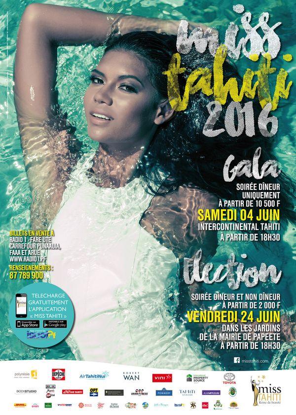 Affiche Miss Tahiti 2016