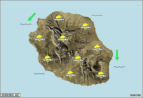 Carte météo 25 mars 2021