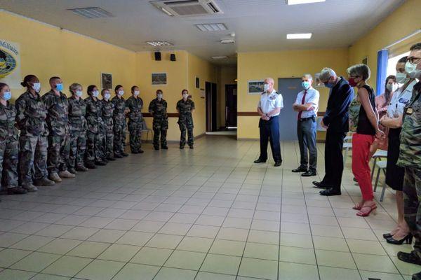 Arrivée des renforts militaires pour le CHOG