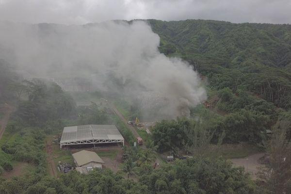 Un incendie au CET de Paihoro