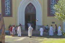 La cathédrale de Papeete le jour de l'Assomption.