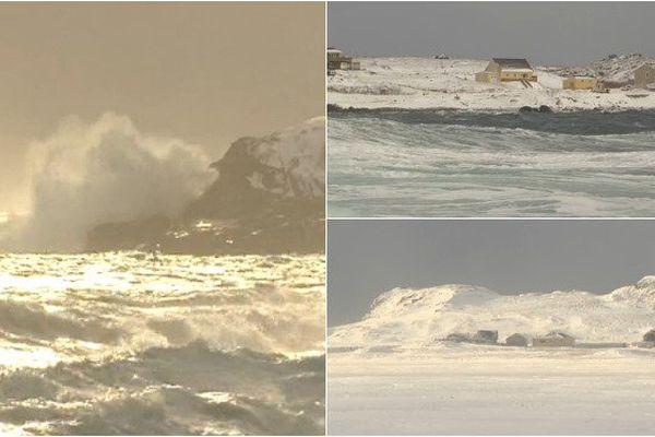 Saint-Pierre et Miquelon a revêtu son manteau de neige