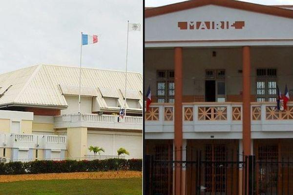 Mairies de Goyaves et de Petit Bourg
