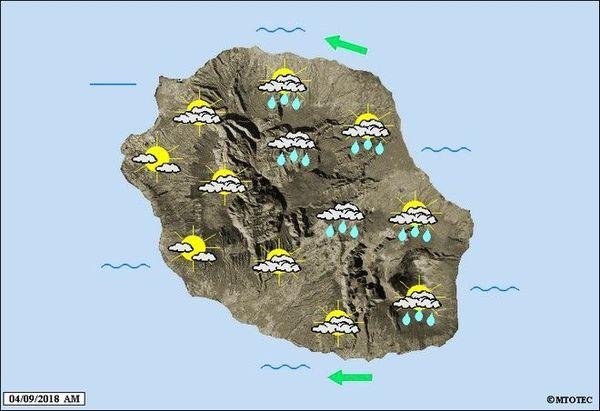 Carte météo du 4 septembre 2018