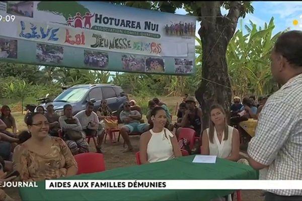 La fondation de Mareva Georges soutient les habitants du quartier Hotuarea