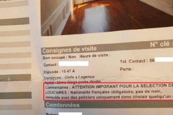"""""""Pas de Noir"""" : les critères racistes d'une annonce immobilière en région parisienne"""
