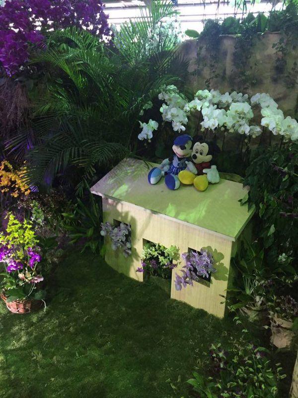 Petite maison du salon de l'orchidée