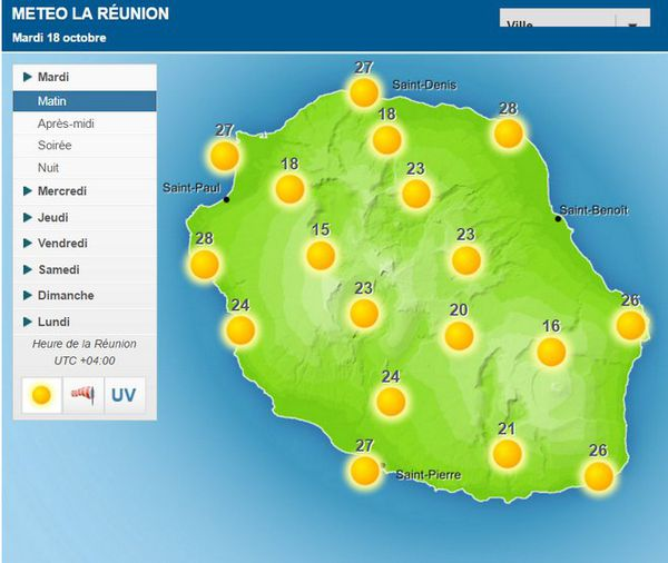 Carte météo 18 Oct 2016