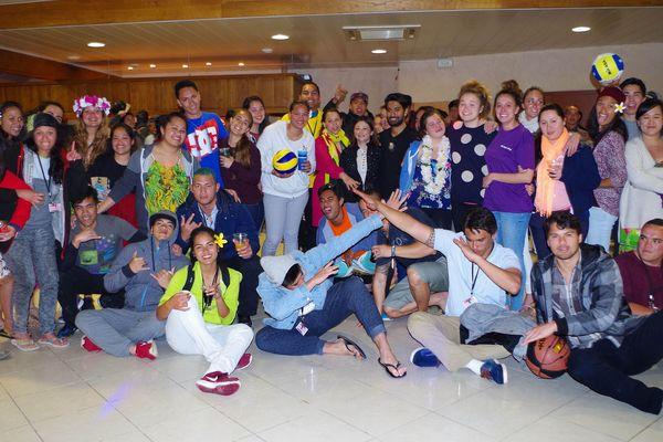 rassemblement étudiants polynésiens