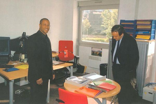 Albert Couriol et Michel Platini