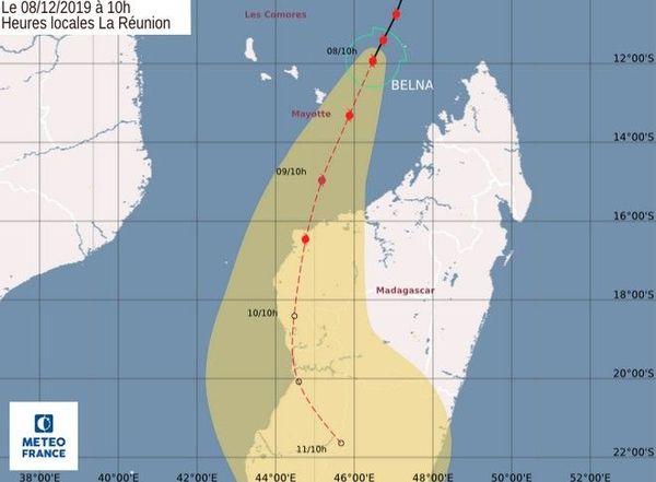 cyclone Belna mayotte 10h 081219