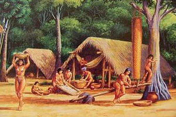 Campement amérindien