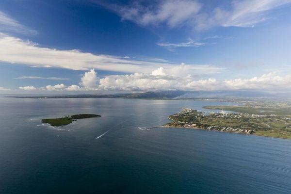 Vue aérienne d'une partie de îles Fidji