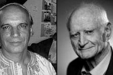 À gauche, le savant Alain Anselin est décédé à Pointe-à-Pitre le 16 mai 2019, à 75 ans, à droite, le philosophe Michel Serres est décédé, samedi 1er juin 2019, à l'âge de 88 ans.