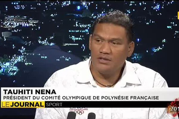 Tauhiti Nena, le président du comité olympique de Polynésie était l'invité du journal