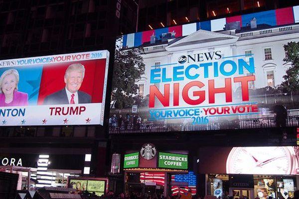 Election Donald Trump / Times square