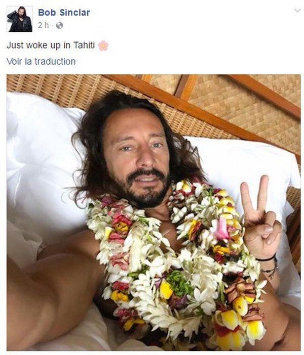 Bob Sinclar est arrivé à Tahiti